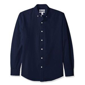 3/$30 Slim Fit Long Sleeve Solid Oxford Shirt Sz M